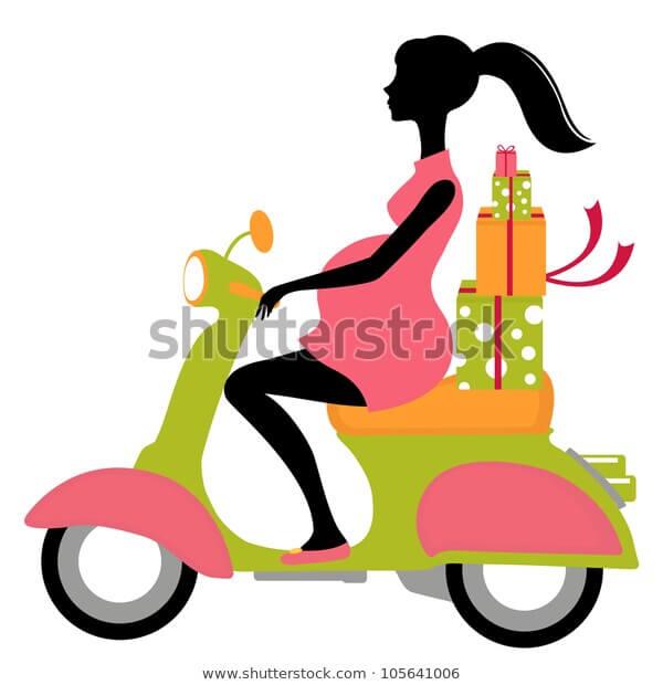 Đọc ngay để tránh những nguy hiểm khi mẹ bầu đi xe máy nhiều