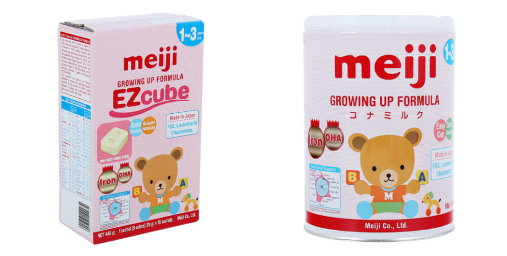 Sữa Meiji số 9 cho bé 1-3 tuổi bổ sung lactose trong sữa mẹ
